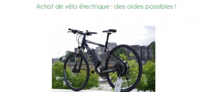 Acheter un vélo électrique ?  Des subventions existent…